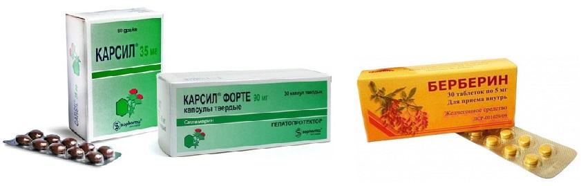 Примеры желчегонных препаратов