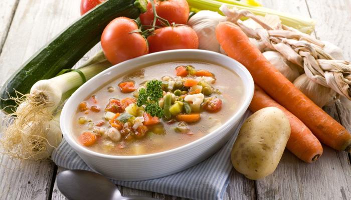 Суп и овощи
