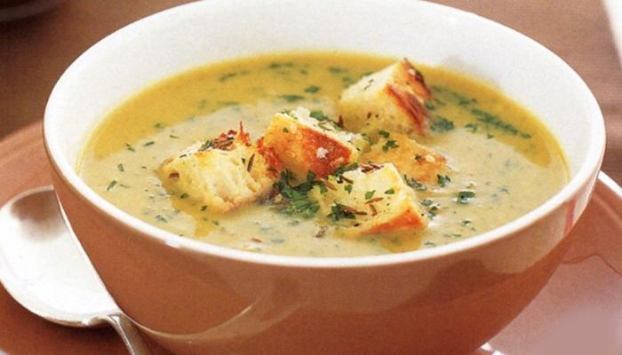 Суп пюре с сухариками