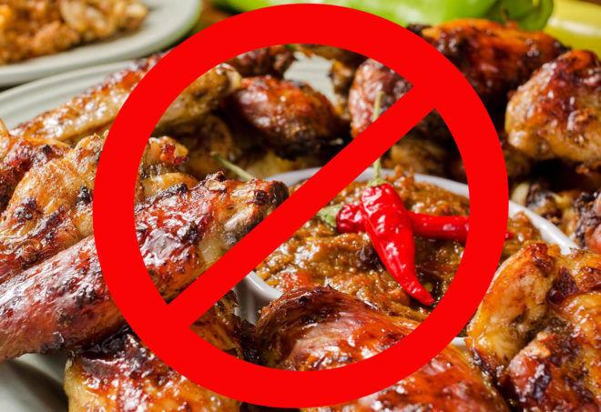 Исключить жареную жирную еду