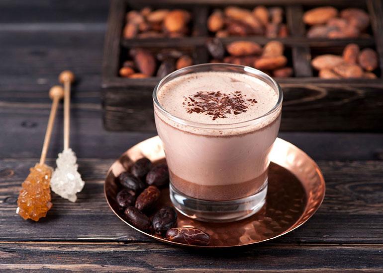 Стакан с какао