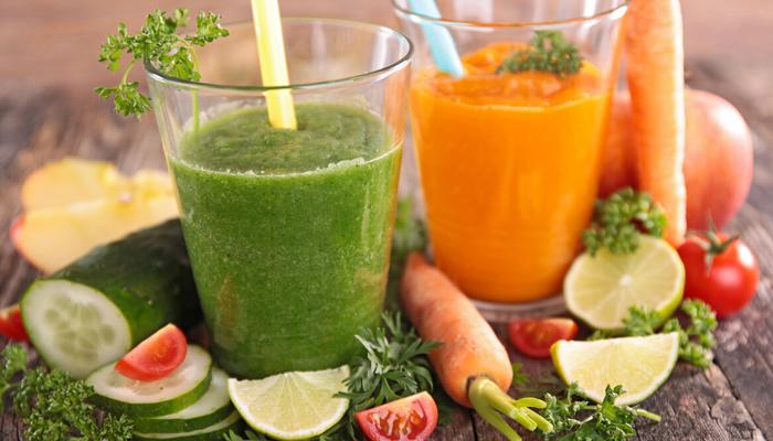 Морковный и огуречный соки